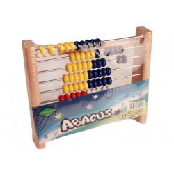 Abaco madera 20x10x26 cm 100 bolas colores