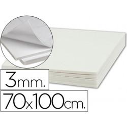 Carton pluma liderpapel adhesivo 1 cara 70x100 cm espesor 3 mm