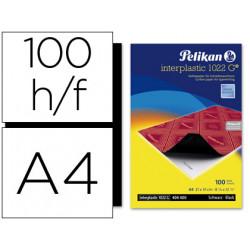 Papel carbon pelikan negro interplastic 1022 g tamaño a4 caja de 100 unidad