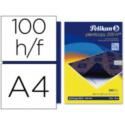 Papel carbon pelikan azul tamaño a4 caja de 100 unidades
