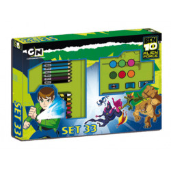 Conjunto escolar copywrite stationery ben 10 set 33 piezas