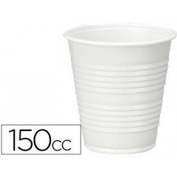 Vaso de plastico blanco 150cc para maquinas de vending de cafe paquete de 1