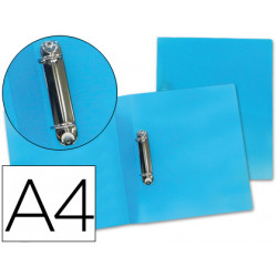 Carpeta liderpapel 2 anillas mixtas 25 mm 43472 polipropileno din a4 azul s