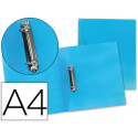 Carpeta liderpapel 2 anillas mixtas 25 mm 43472 polipropileno din a4 azul s