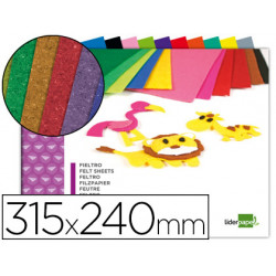 Bloc trabajos manuales liderpapel fieltro 240x315mm 10 hojas colores surtid