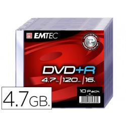 Dvd+r emtec capacidad 47gb ve locidad 16x