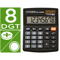 Calculadora citizen sobremesa sdc805 bn 8 digitos