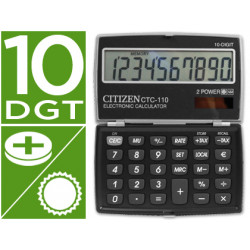 Calculadora citizen bolsillo ctc110 bkwb 10 digitos negra