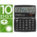 Calculadora citizen bolsillo ctc110 bkwb 10 digitos negra
