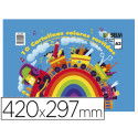 Bloc trabajos manuales cartulina 297x420mm 10 hojas colores surtidos