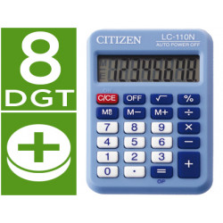 Calculadora citizen bolsillo lc110 8 digitos celeste