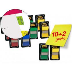 Banderitas separadoras colores surtidos pack promocional de 10 blisters + 2