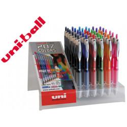 Boligrafo uniball fancy umn 207 07mm tinta gel colores surtidos