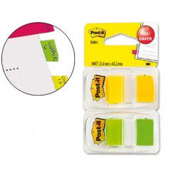 Banderitas separadoras 680246p verde y amarilla + dispensador