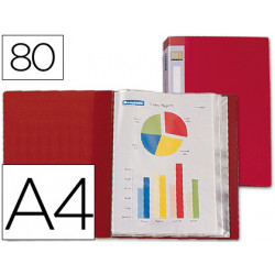 Carpeta liderpapel personaliza 31760 80 fundas polipropileno din a4 roja lo