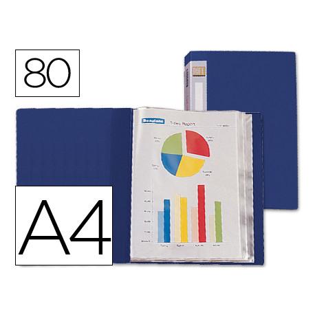 Carpeta liderpapel personaliza 31762 80 fundas polipropileno din a4 azul lo