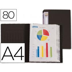 Carpeta liderpapel personaliza 31765 80 fundas polipropileno din a4 negra l