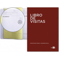 Libro liderpapel din a4 100 h registro de visitas de la inspeccion de traba