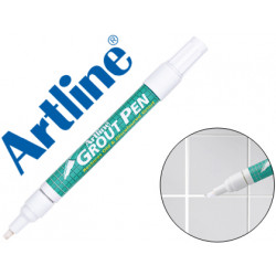 Rotulador artline marcador permanente ek419 blanco grout pen punta biselad