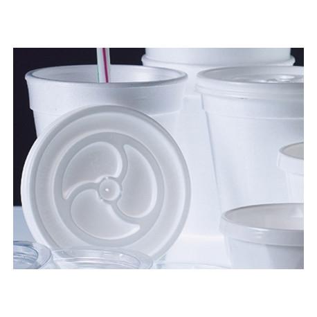 Tapa vaso foam 70mm diametro paquete 100