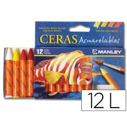 Lapices de cera masats acuarelable caja de 12 unidades colores surtidos