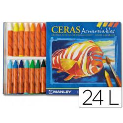 Lapices de cera masat acuarelable caja de 24 unidades colores surtidos