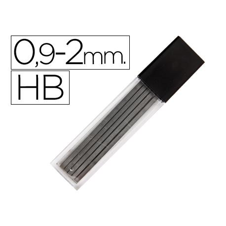 Minas liderpapel grafito rectangulares 2x09 mm hb tubo de 12 minas
