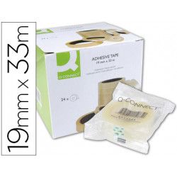 Cinta adhesiva qconnect 33 mt x 19 mm encelofanada