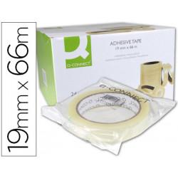 Cinta adhesiva qconnect 66 mt x 19 mm encelofanada