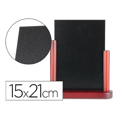 Pizarra negra liderpapel doble cara de madera con superficie para rotulador