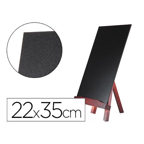 Pizarra negra liderpapel caballete de madera con superficie para rotuladore