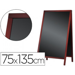 Pizarra negra liderpapel caballete doble cara de madera con superficie para