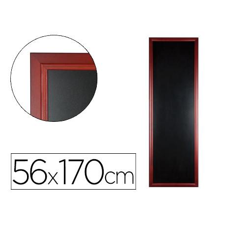 Pizarra negra liderpapel mural de madera con superficie para rotuladores ti