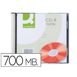 Cdr qconnect capacidad 700mb duracion 80min velocidad 52x caja slim
