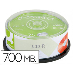 Cdr qconnect capacidad 700mb duracion 80min velocidad 52x bote de 25 unid