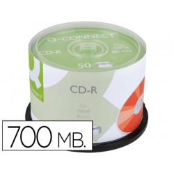 Cdr qconnect capacidad 700mb duracion 80min velocidad 52x bote de 50 unid