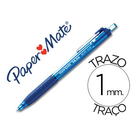Boligrafo paper mate inkjoy 300 rt punta media trazo 1mm retractil clips me