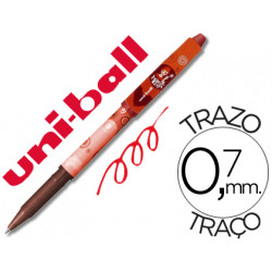 Rotulador uniball roller magik girl uf109 borrable 07 mm rojo