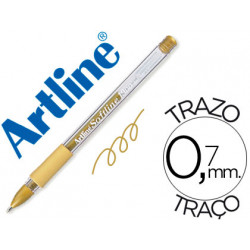 Boligrafo artline 1900 softline tinta aceite metalico oro