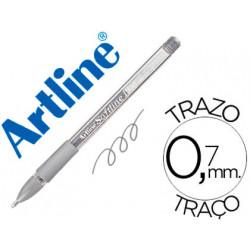 Boligrafo artline 1900 softline tinta aceite metalico plata