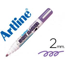 Rotulador artline camiseta ekt2 violeta fluorescente punta redonda 2 mm pa