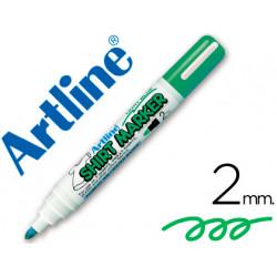 Rotulador artline camiseta ekt2 verde fluorescente punta redonda 2 mm para