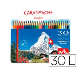 Lapices de colores prismalo acuarelables caja metalica de 30 colores surtid
