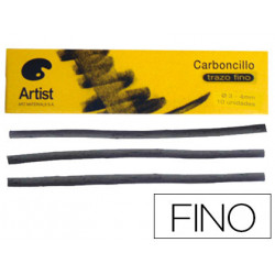 Carboncillo artist fino 34 mm caja de 10 barras