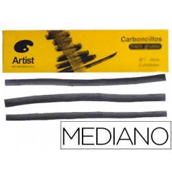 Carboncillo artist medianos 56 mm caja de 6 barras