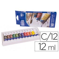 Acuarela artist caja carton de 12 colores surtidos de 12 ml