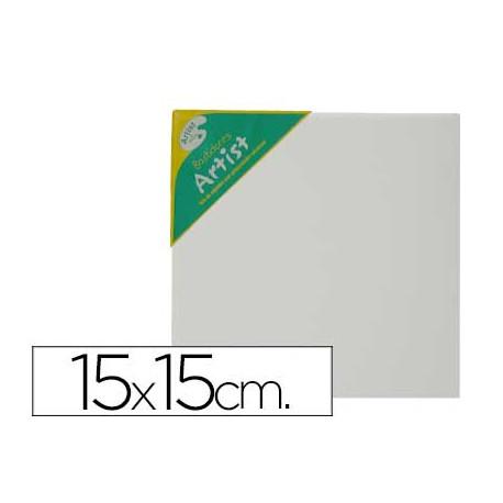 Bastidor artist lienzo grapado trasero algodon 100% 15x15 cm