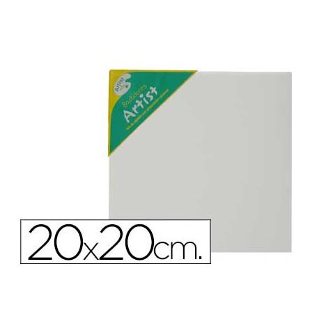 Bastidor artist lienzo grapado trasero algodon 100% 20x20 cm