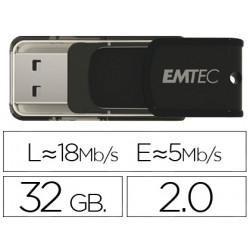 Memoria usb emtec flash 32 gb 20 candy