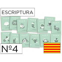 Cuaderno rubio escriptura nº4 catalan